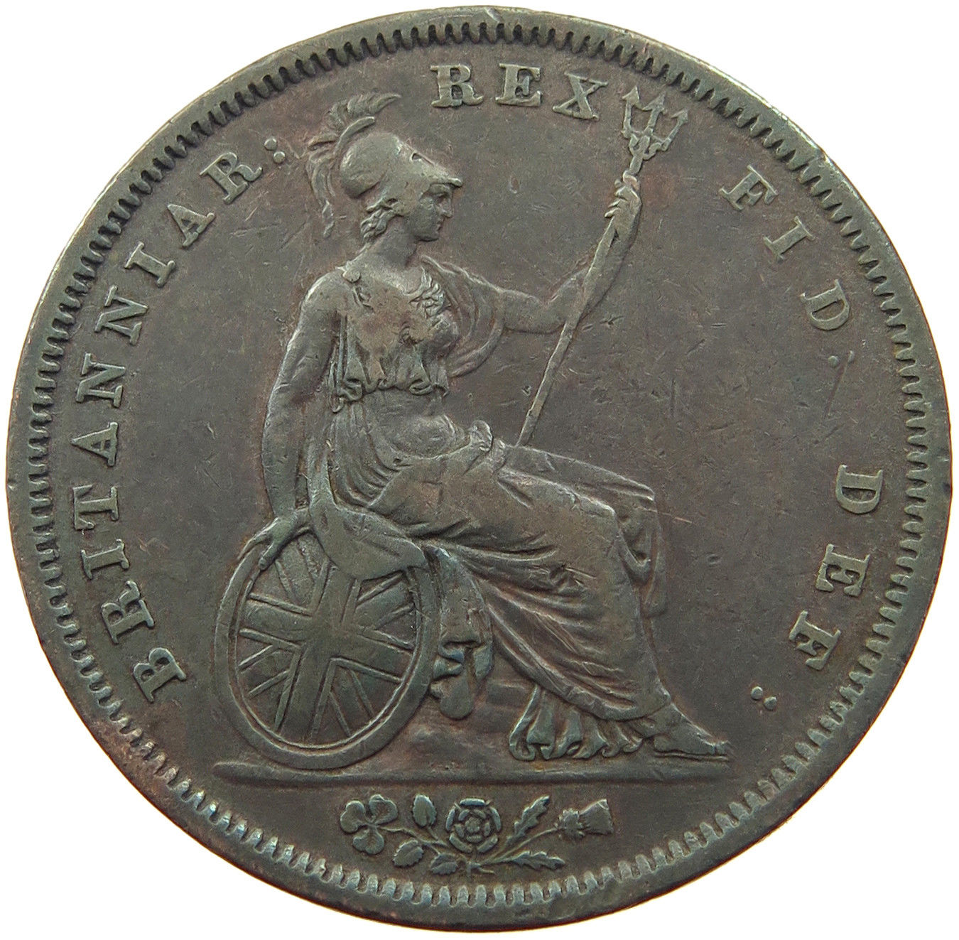 Penny 1827 Coin From United Kingdom Online Coin Club