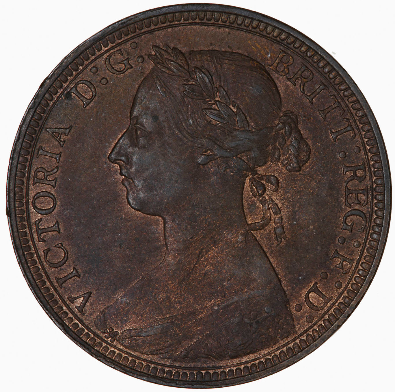 Halfpenny 1889: Photo Coin - Halfpenny, Queen Victoria, Great Britain, 1889