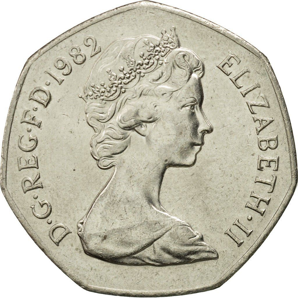 Fifty Pence: Photo Coin, Great Britain, Elizabeth II, 50 Pence, 1982