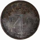 Fourpence 1877 (Maundy): Photo Coin - Groat (Maundy), Queen Victoria, Great Britain, 187