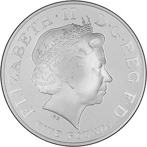 United Kingdom / Five Pounds 2014 Prince George Birthday - obverse photo