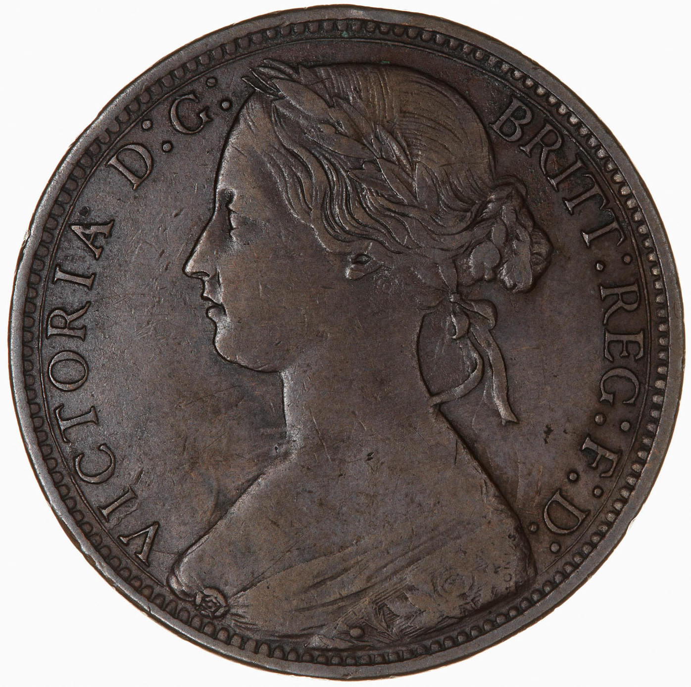 Penny 1873: Photo Coin - Penny, Queen Victoria, Great Britain, 1873