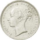 Shilling 1874: Photo Silver shilling, Great Britain