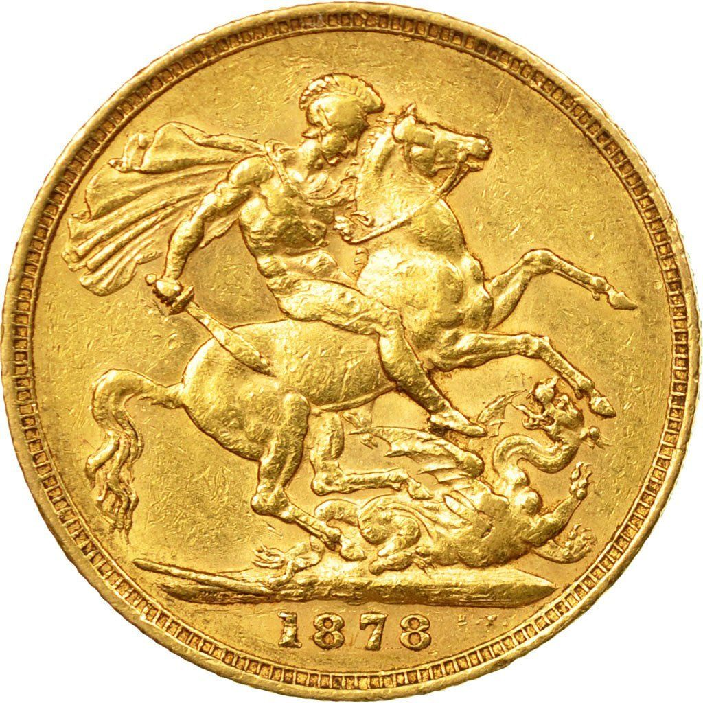 Sovereign 1878 St George: Photo Coin, Australia, Victoria, Sovereign, 1878, Melbourne