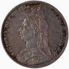 Shilling 1891: Photo Coin - Shilling, Queen Victoria, Great Britain, 1891