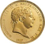 United Kingdom / Crown Pattern 1817 The Three Graces / Gold Proof - obverse photo