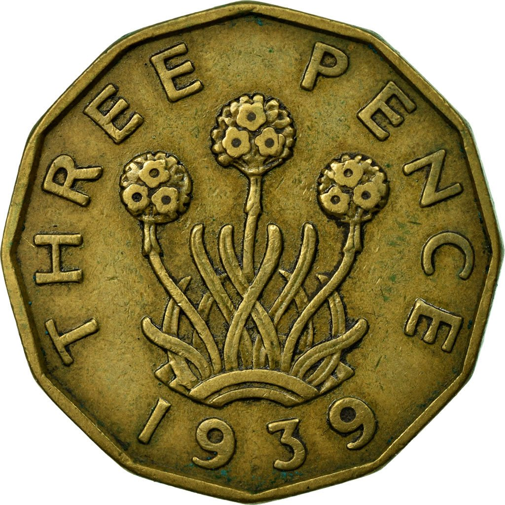 Threepence 1939 (Brass): Photo Coin, Great Britain, 3 Pence, 1939