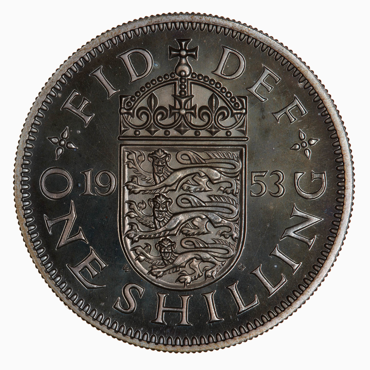 Shilling: Photo Proof Coin - Shilling, Elizabeth II, Great Britain, 1953