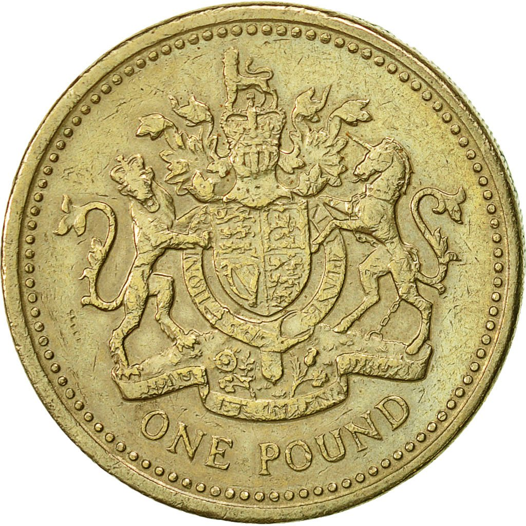 One Pound 1983 Royal Arms: Photo Coin, Great Britain, Pound, 1983