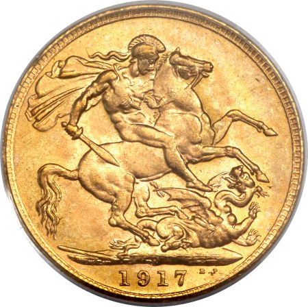 Sovereign 1917: Photo Australia 1917-P sovereign