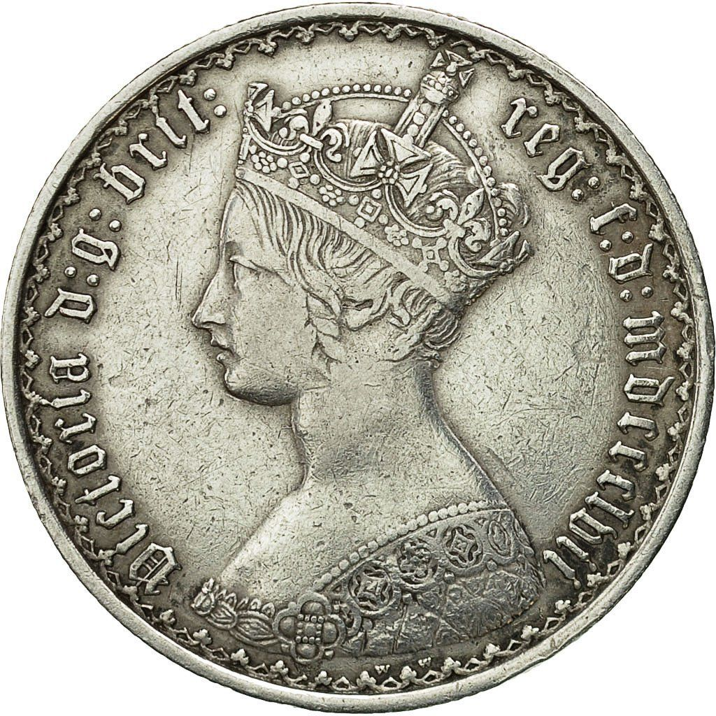 Florin 1857: Photo Coin, Great Britain, Victoria, Florin, 1857