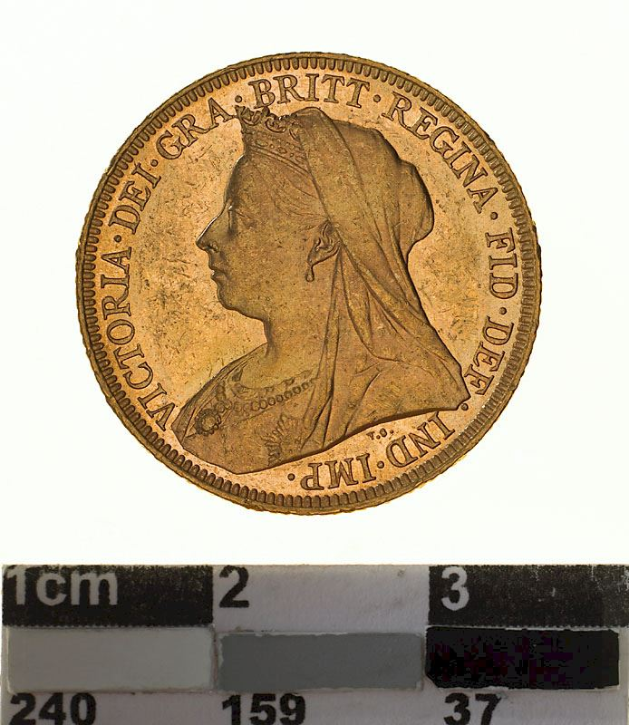 Sovereign 1896: Photo Coin - Sovereign, Victoria, Australia, 1896