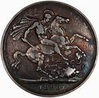 Crown 1890: Photo Coin - Crown, Queen Victoria, Great Britain, 1890