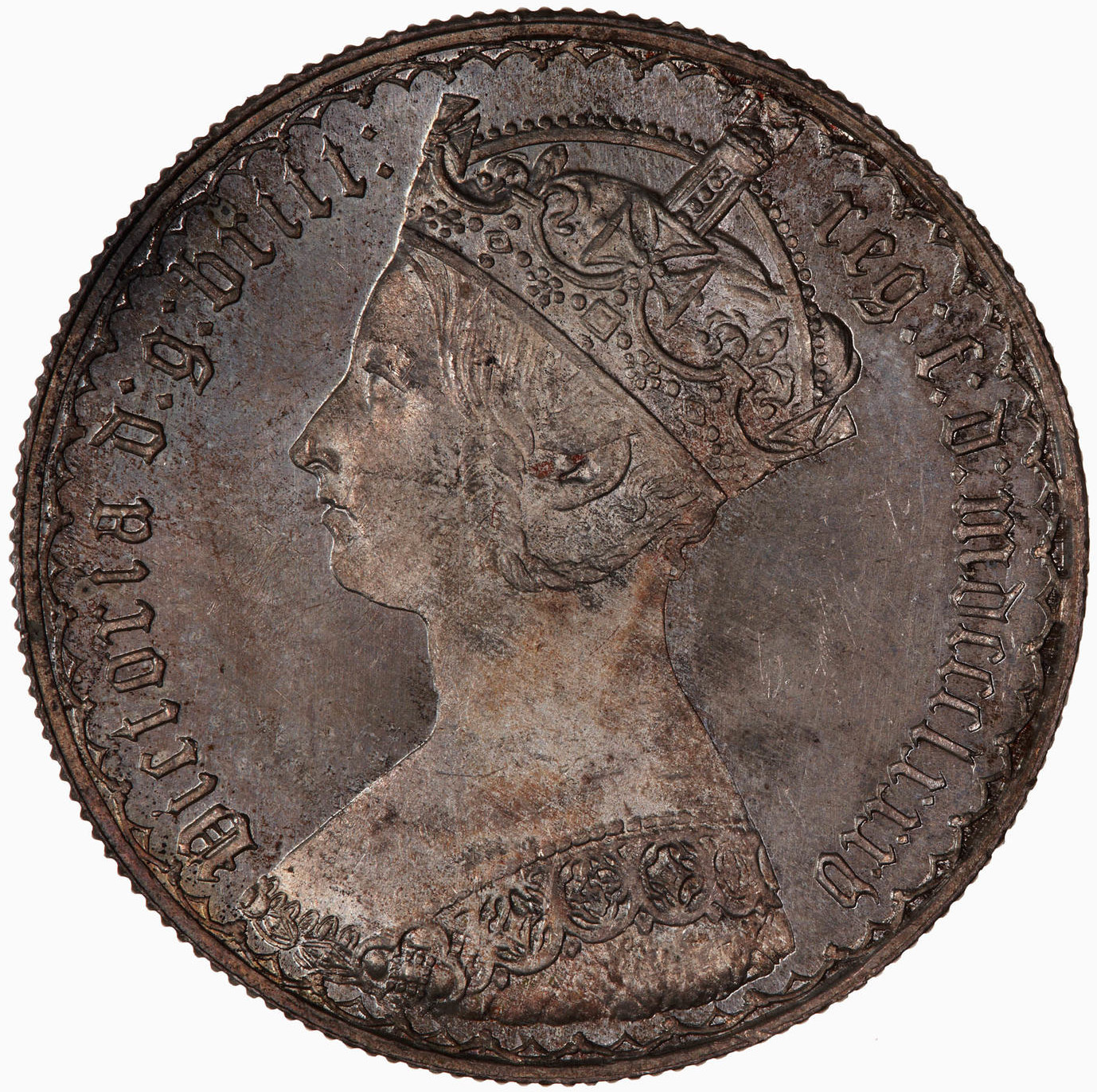 Florin 1885: Photo Coin - Florin, Queen Victoria, Great Britain, 1885