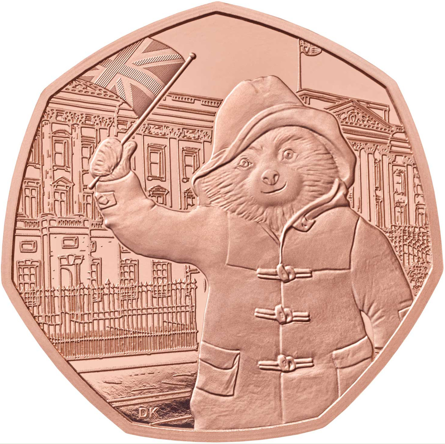 Fifty Pence 2018 Paddington Bear at Buckingham Palace: Photo Paddington at Buckingham Palace 2018 UK 50p Gold Proof Coin