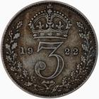 Threepence 1922 (Circulating): Photo Coin - Threepence, George V, Great Britain, 1922