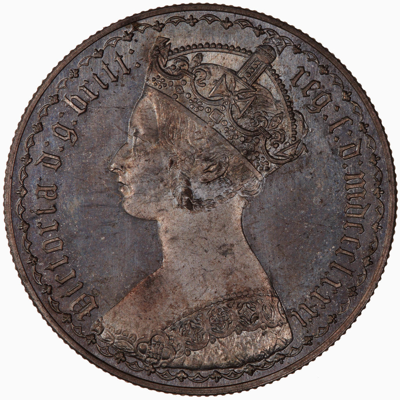 Florin 1881: Photo Coin - Florin, Queen Victoria, Great Britain, 1881