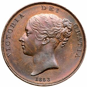 United Kingdom / Penny 1853 - obverse photo
