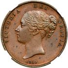 Penny 1860 (Large): Photo Great Britain 1860/59 penny
