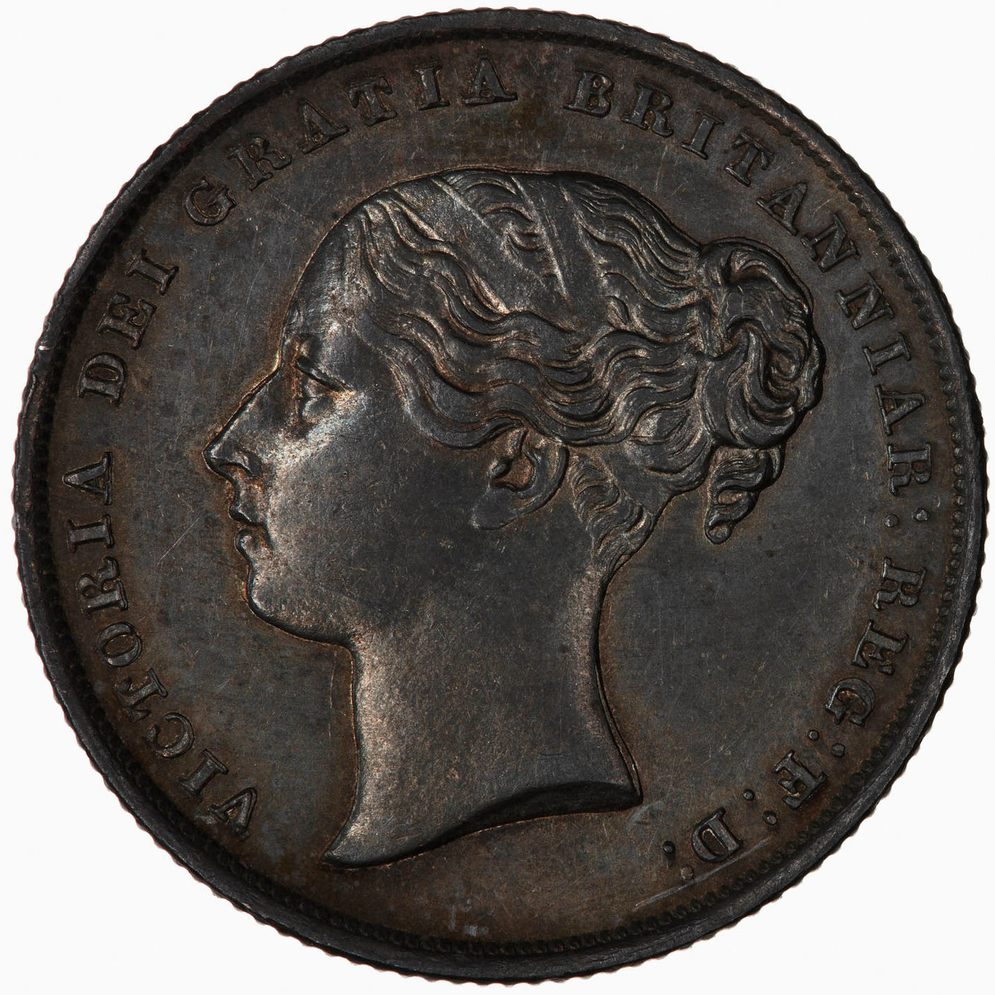 Shilling 1844: Photo Coin - Shilling, Queen Victoria, Great Britain, 1844