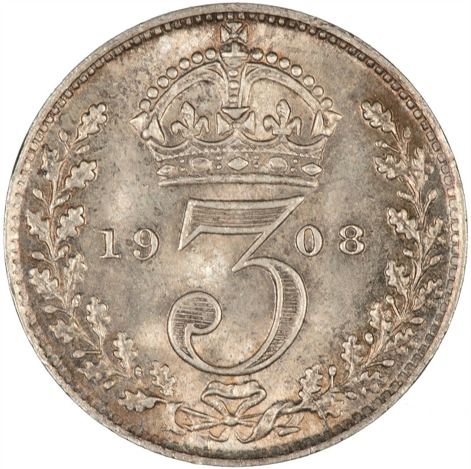 Threepence 1908 (Circulating): Photo Coin - Threepence, Edward VII, Great Britain, 1908