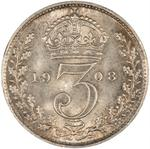 United Kingdom / Threepence 1908 (Circulating) - reverse photo
