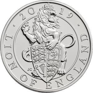 United Kingdom / Five Pounds 2019 Lion of England - reverse photo
