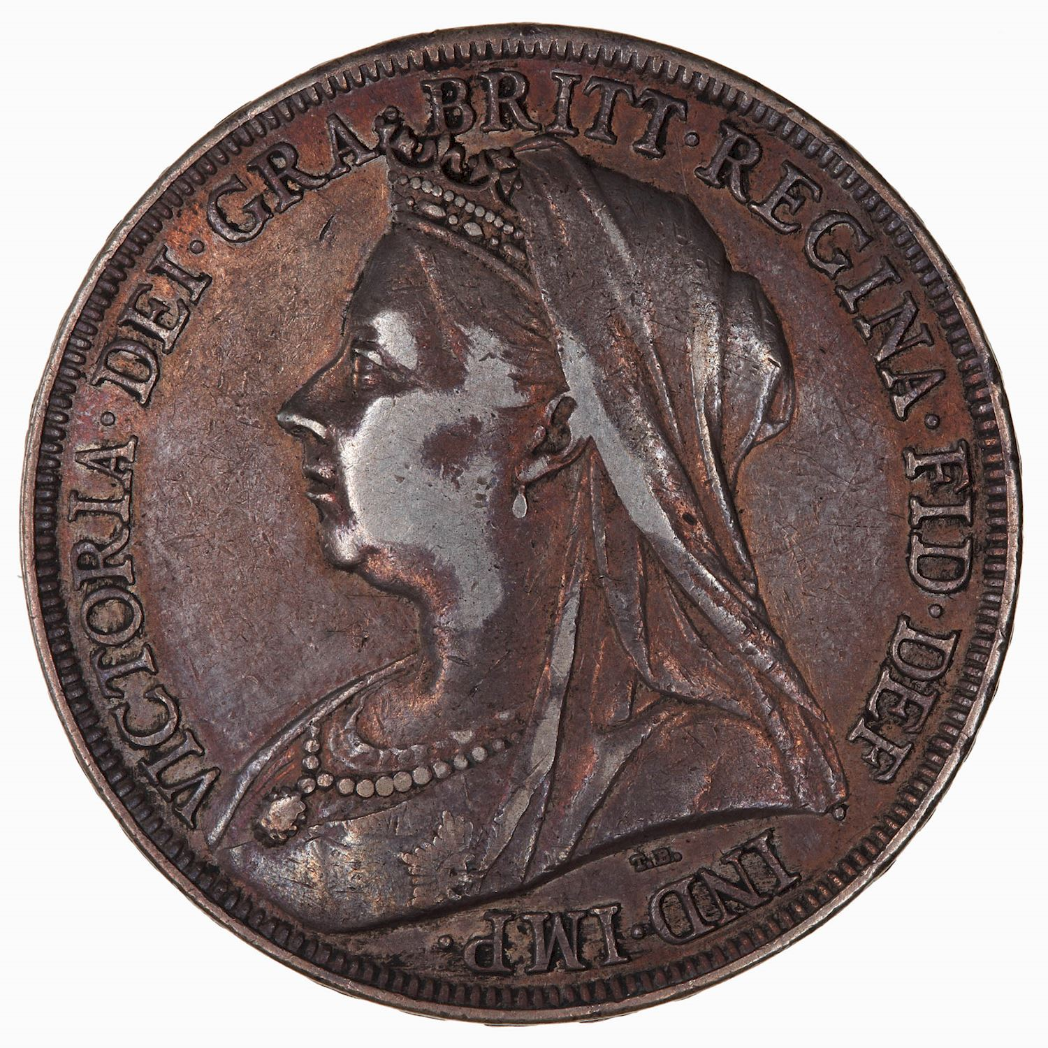Crown 1894: Photo Coin - Crown, Queen Victoria, Great Britain, 1894