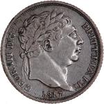 Sixpence 1817: Photo Coin - Sixpence, George III, Great Britain, 1817