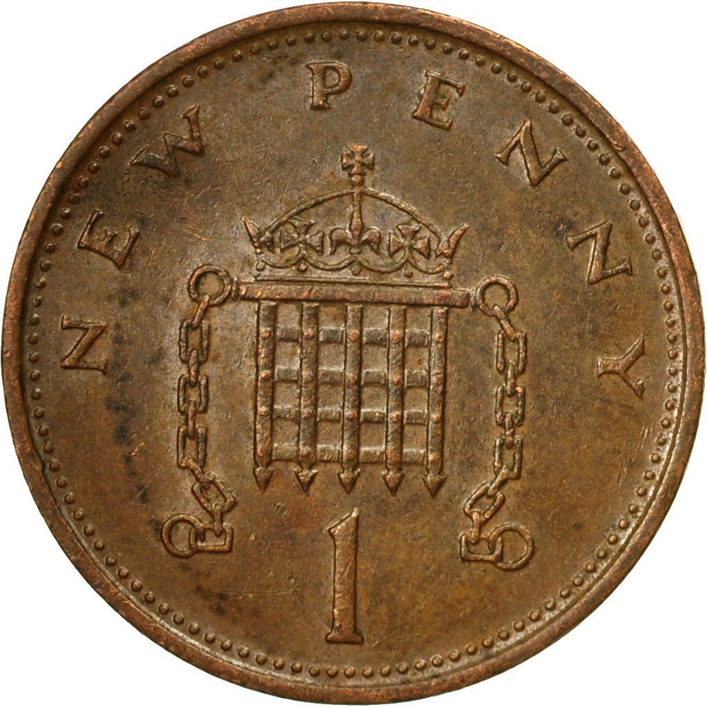 One Penny 1975: Photo Coin, Great Britain, Elizabeth II, New Penny, 1975