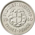 United Kingdom / Threepence 1940 (Silver, circulating) - reverse photo