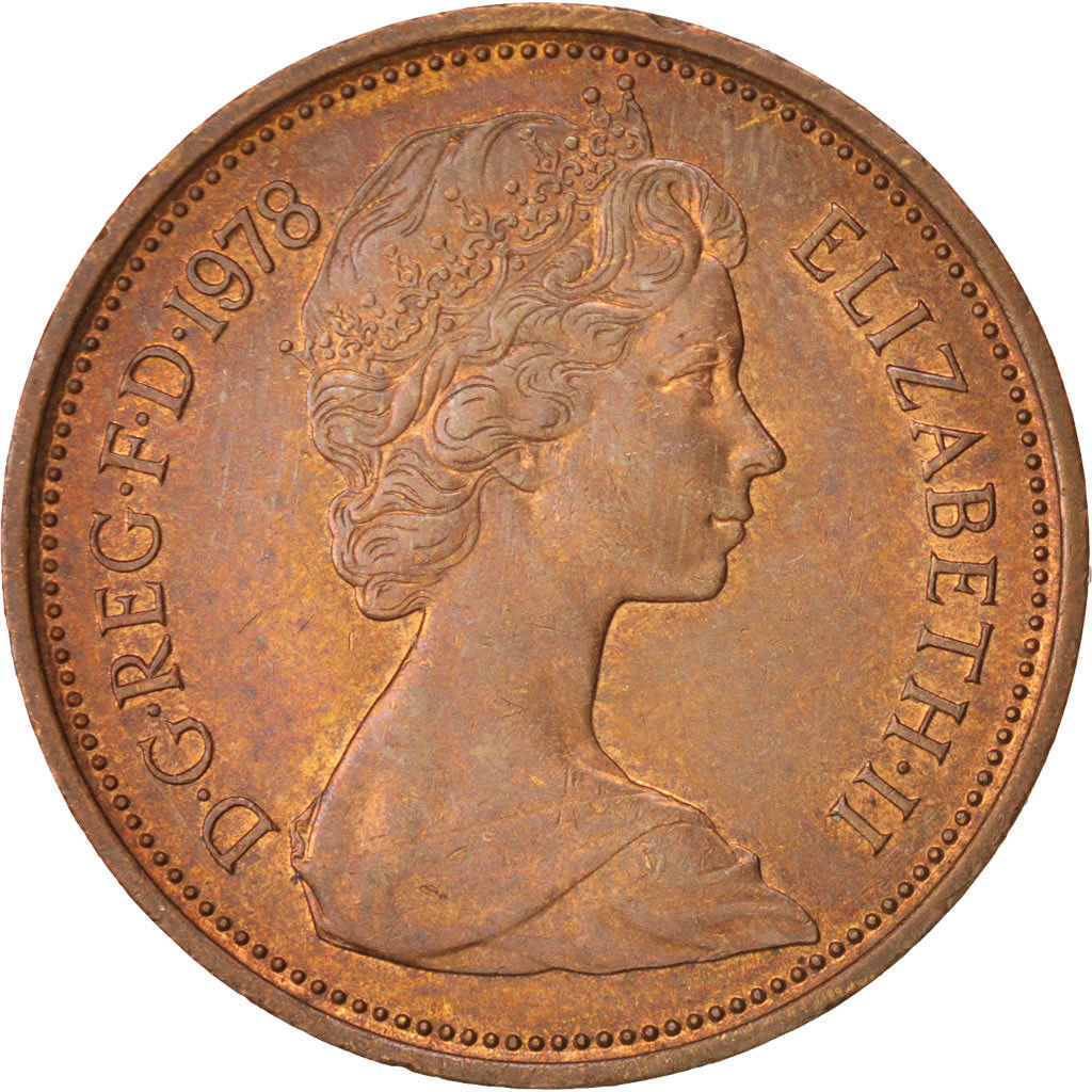 Two Pence 1978: Photo Great Britain, Elizabeth II, 2 New Pence, 1978