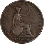 Halfpenny 1843: Photo Coin - Halfpenny, Queen Victoria, Great Britain, 1843