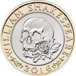 United Kingdom / Two Pounds 2016 Shakespeare - Tragedies - reverse photo