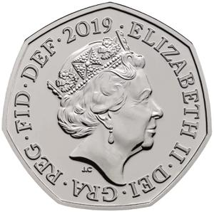 United Kingdom / Fifty Pence 2019 Sherlock Holmes - obverse photo