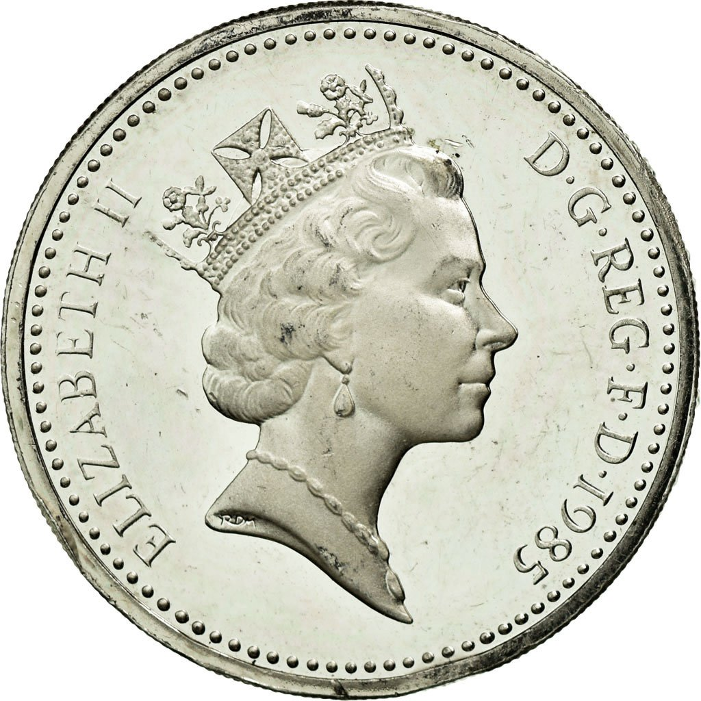 One Pound 1985 Leek and Diadem, Coin from United Kingdom