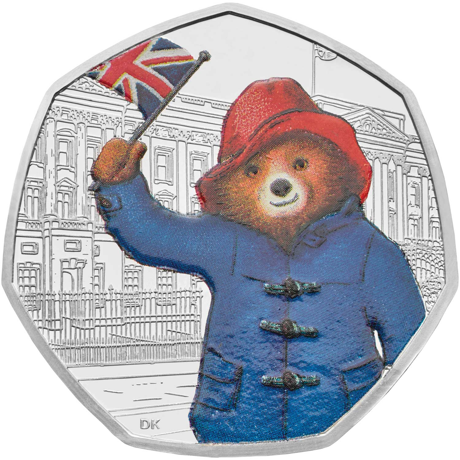 Fifty Pence 2018 Paddington Bear at Buckingham Palace: Photo Paddington at Buckingham Palace 2018 UK 50p Silver Proof Coin