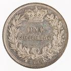 Shilling 1865: Photo Silver shilling, Great Britain