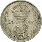 United Kingdom / Threepence 1919 (Circulating) - reverse photo