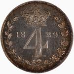 Fourpence 1829 (Maundy): Photo Coin - Groat, George IV, Great Britain, 1829