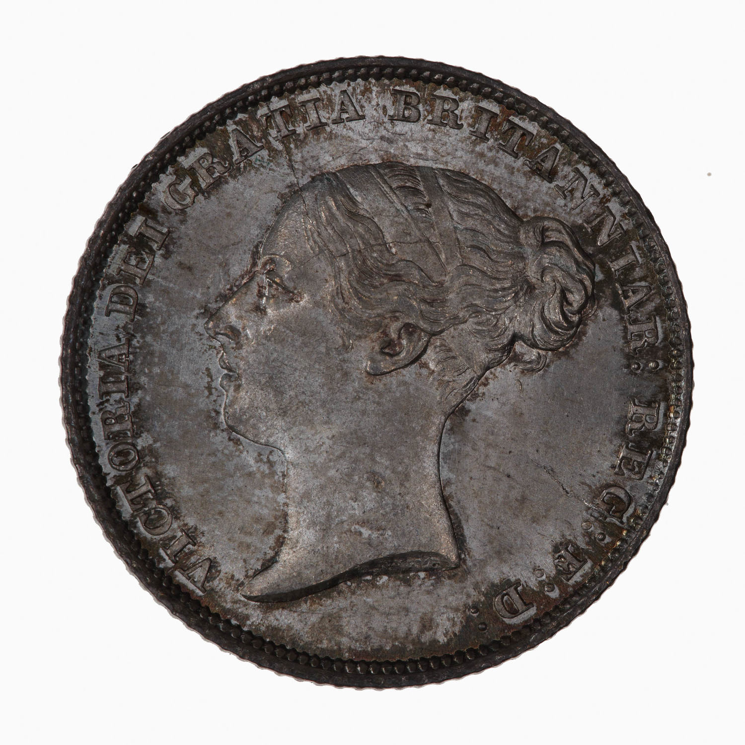 Sixpence 1845: Photo Coin - Sixpence, Queen Victoria, Great Britain, 1845