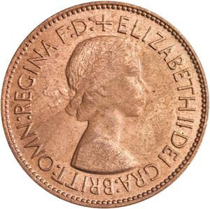 United Kingdom / Penny 1953 - obverse photo
