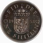 Shilling 1953 Scottish: Photo Proof Coin - Shilling, Elizabeth II, Great Britain, 1953