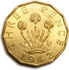 United Kingdom / Threepence 1942 (Brass) - reverse photo