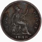 Fourpence 1848: Photo Coin - Groat, Queen Victoria, Great Britain, 1848
