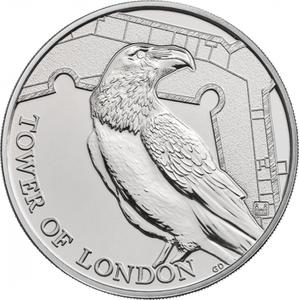 United Kingdom / Five Pounds 2019 Legend of the Ravens - reverse photo
