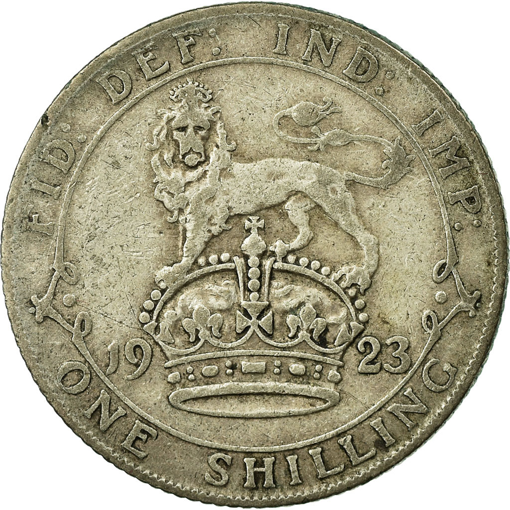 Shilling Lion on Crown (First Design, debased): Photo Coin - Shilling, George V, Great Britain, 1926
