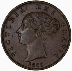 United Kingdom / Halfpenny 1859 - obverse photo