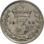 United Kingdom / Threepence 1900 (Circulating) - reverse photo
