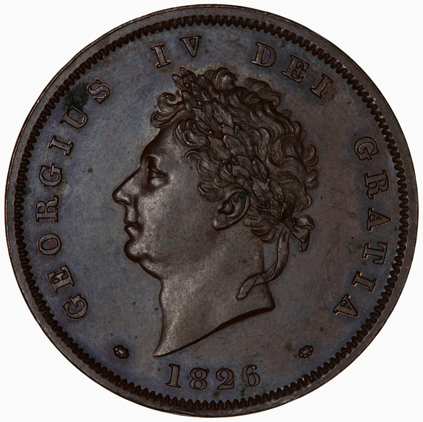 Penny (Pre-decimal): Photo Proof Coin - Penny, George IV, Great Britain, 1826